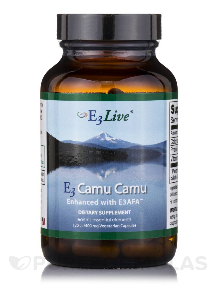 E3 Camu Camu Enhanced with E3AFA™ 400 mg - 120 Vegetarian Capsules
