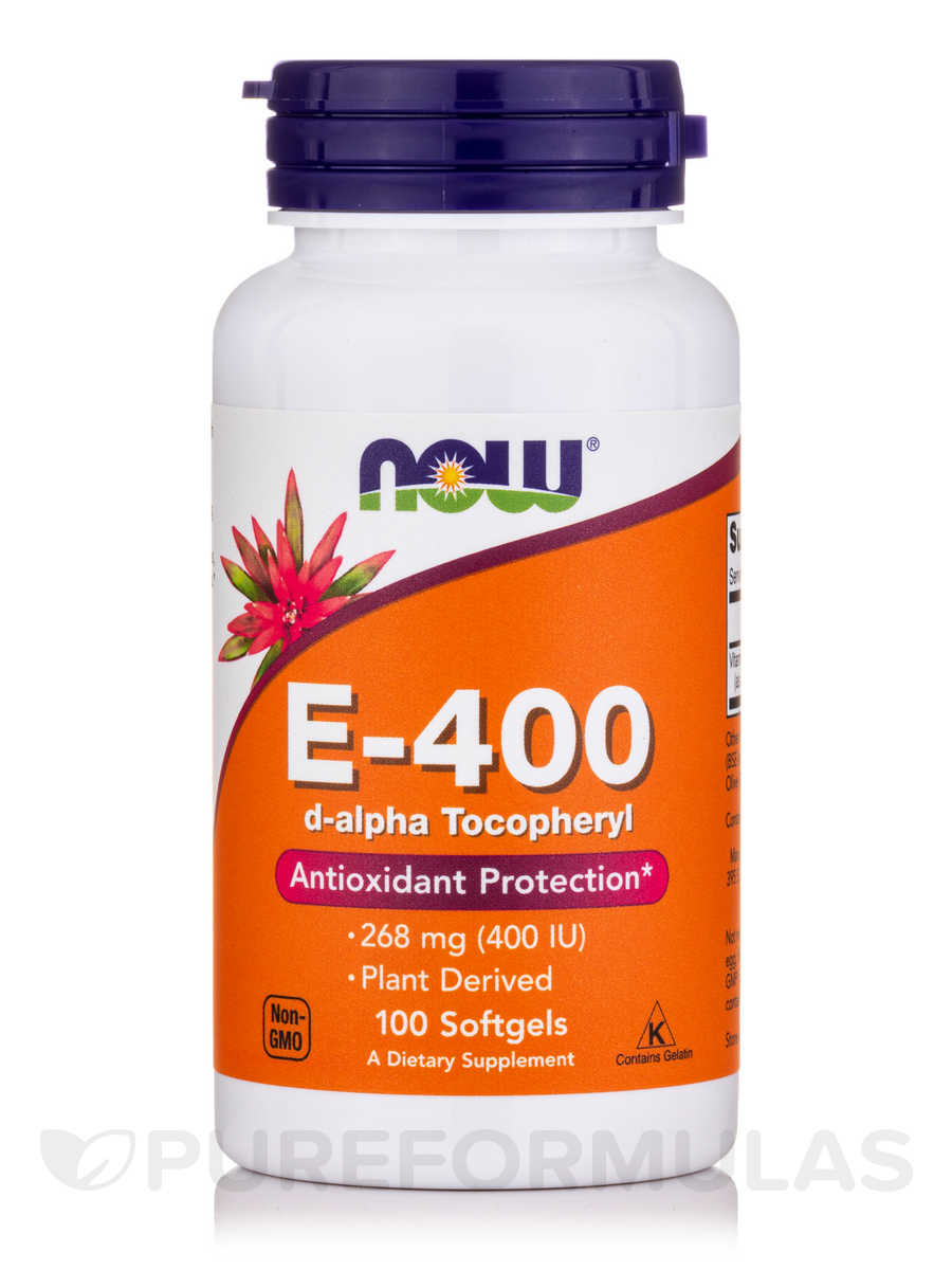 E-400 (d-Alpha Tocopheryl) - 100 Softgels