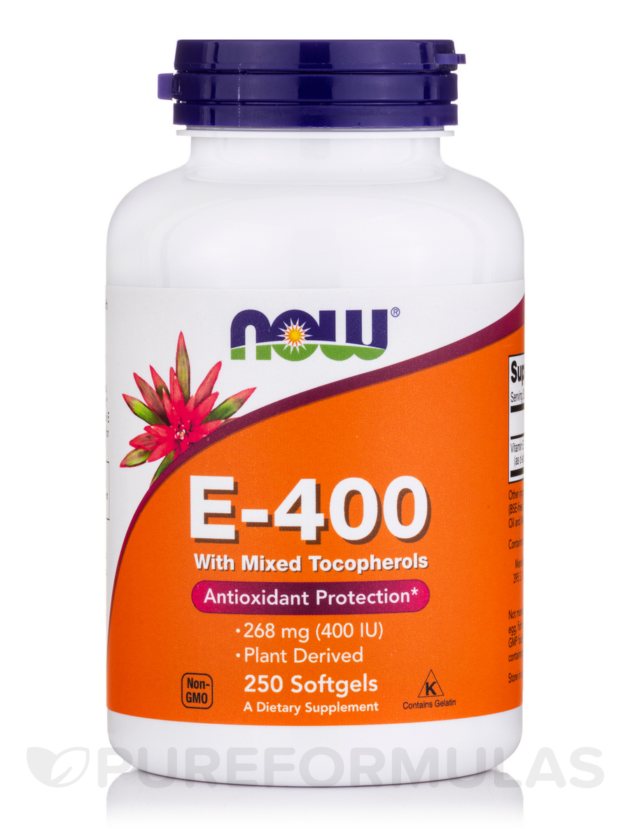Natural E-400 (Mixed Tocopherols) - 250 Softgels