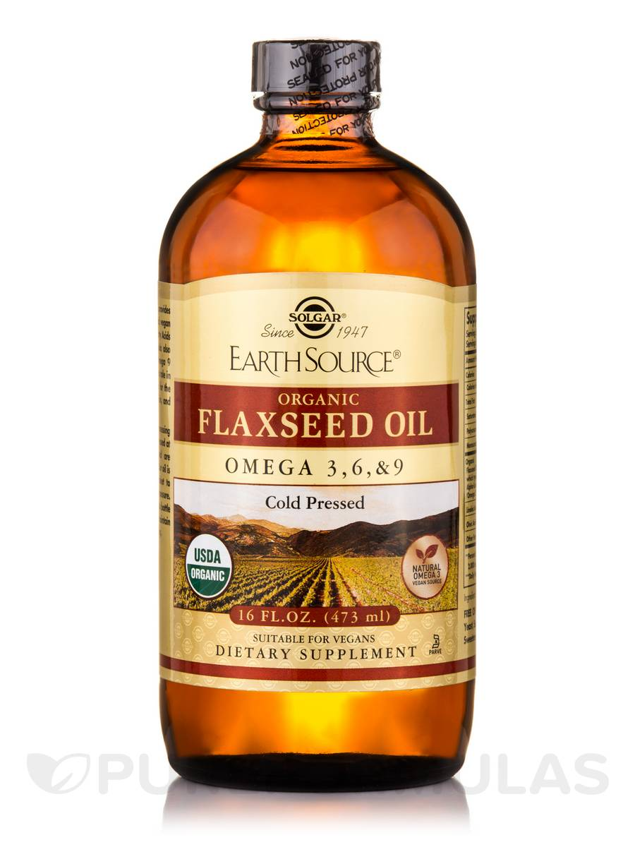 Earth Source® Organic Flaxseed Oil - 16 fl. oz (473 ml)