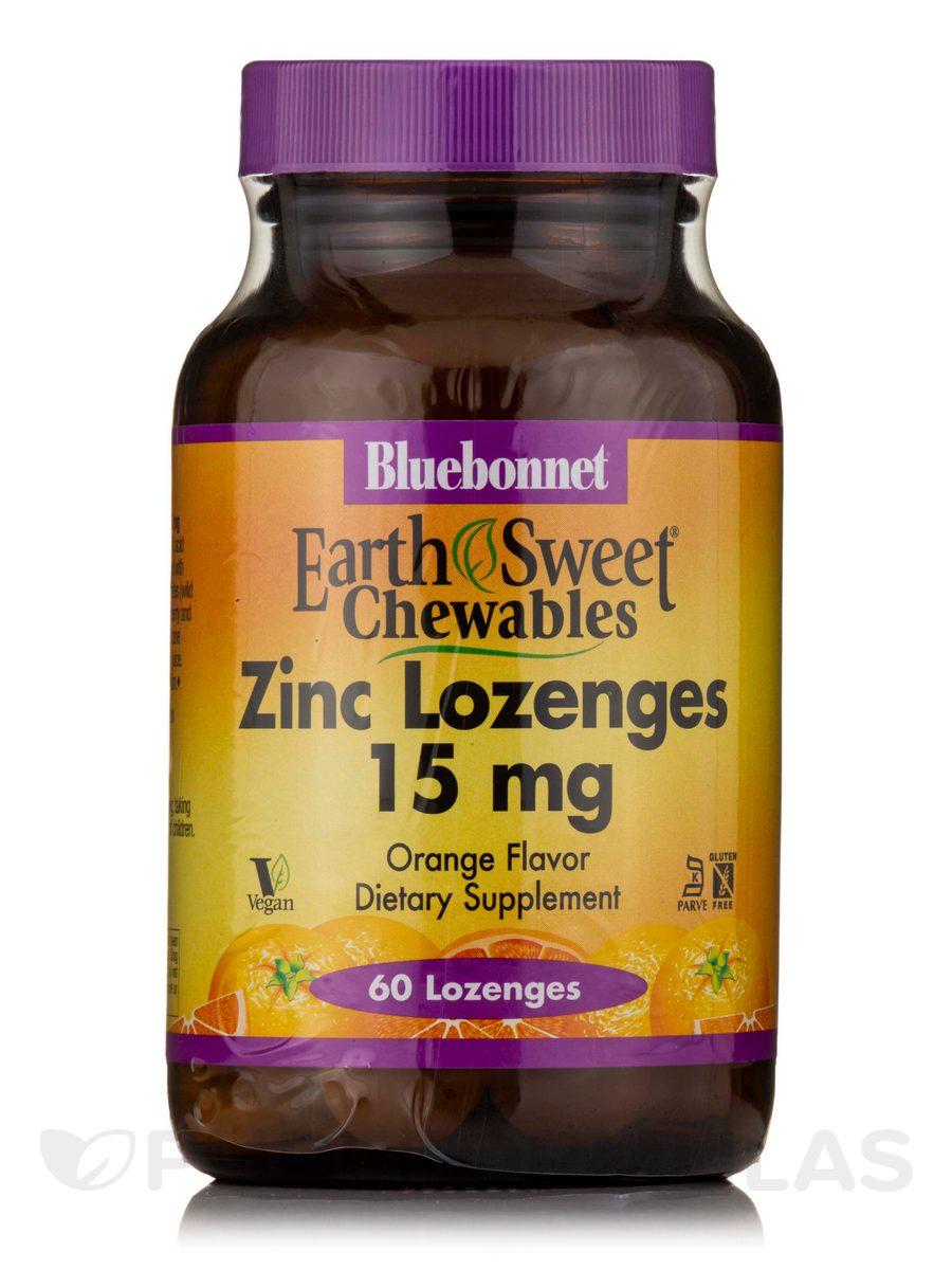 EarthSweet® Chewables Zinc Lozenges 15 mg, Orange Flavor - 60 Lozenges