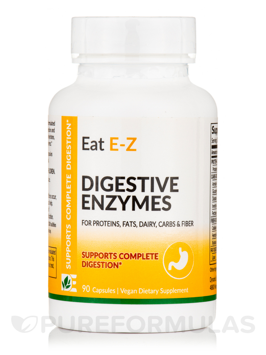 Eat E-Z - Digestive Enzymes - 90 Capsules