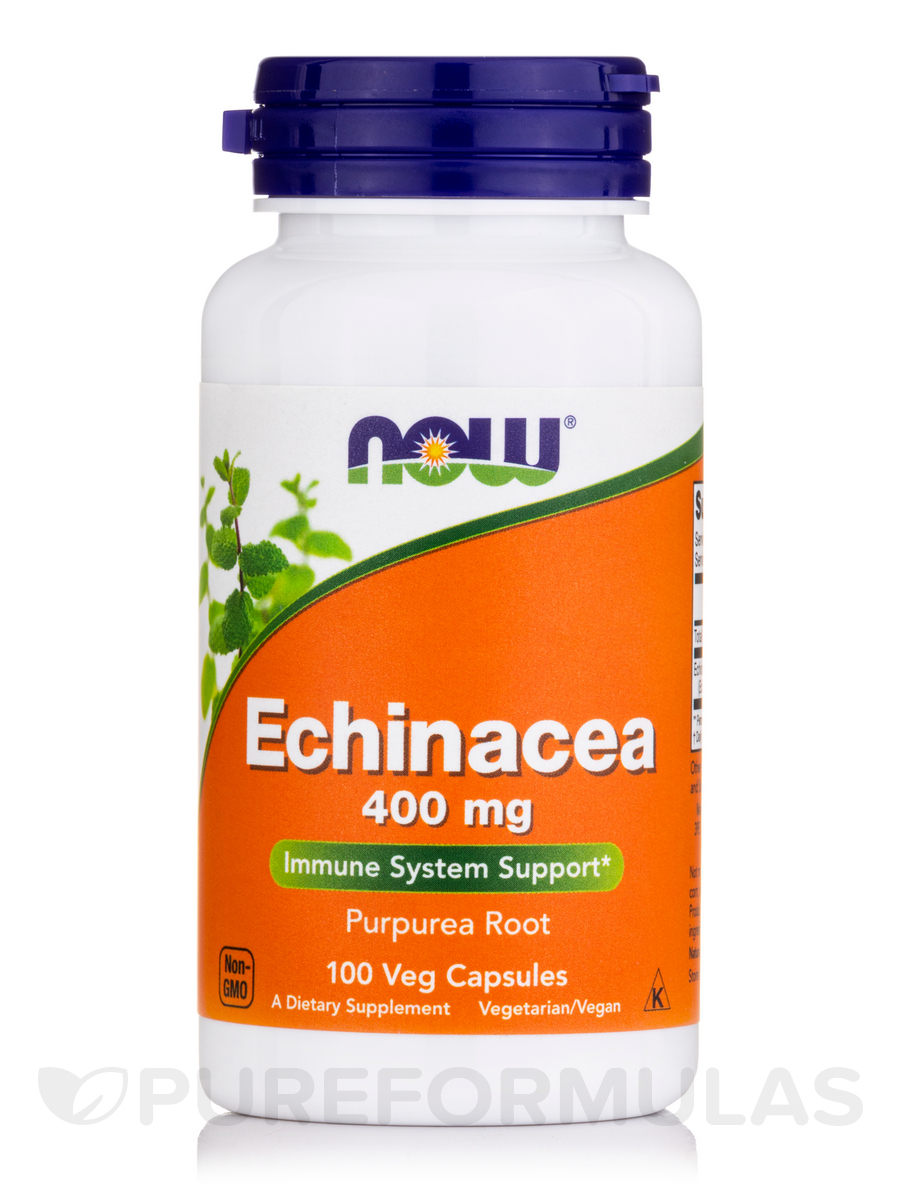 Echinacea 400 mg Purpurea Root - 100 Capsules