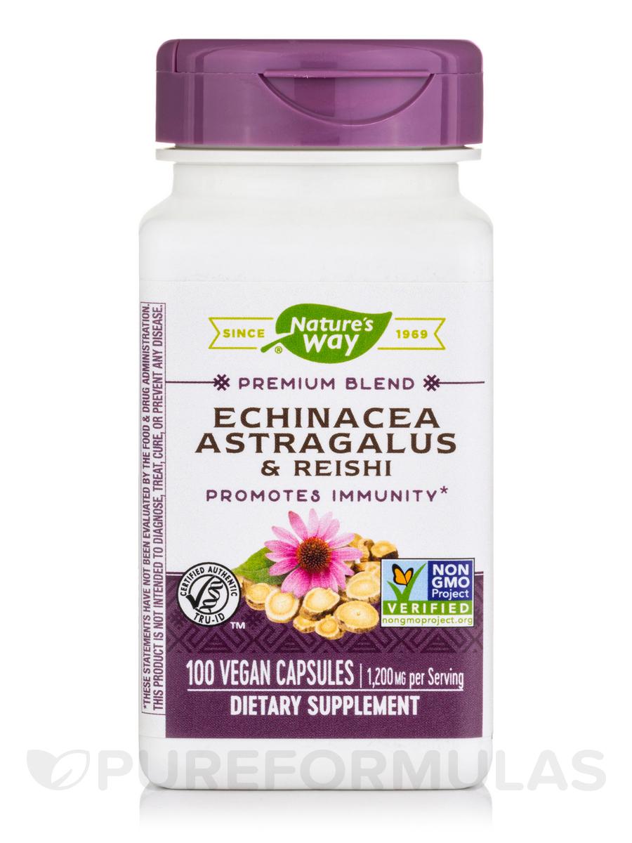 Echinacea Astragalus & Reishi 400 mg - 100 Capsules