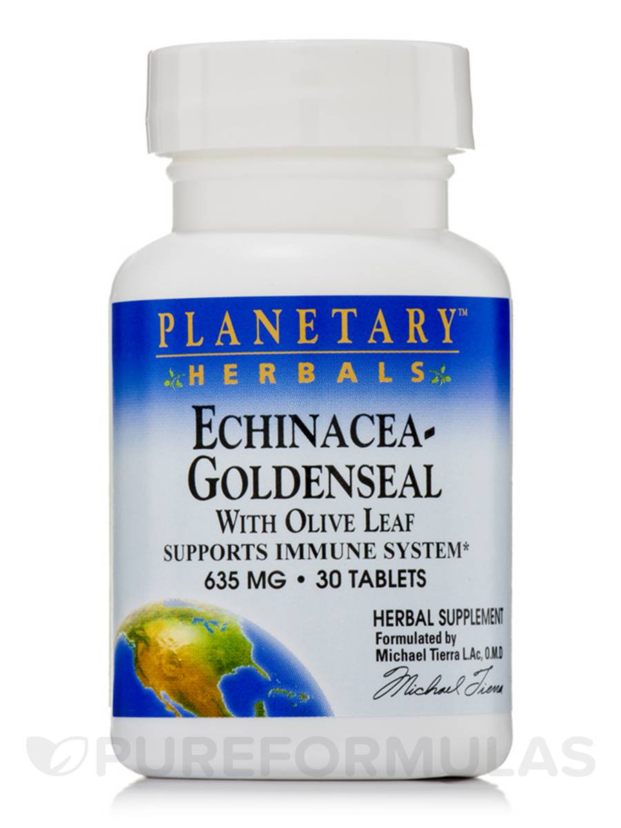 Echinacea Goldenseal with Olive Leaf 635 mg - 30 Tablets