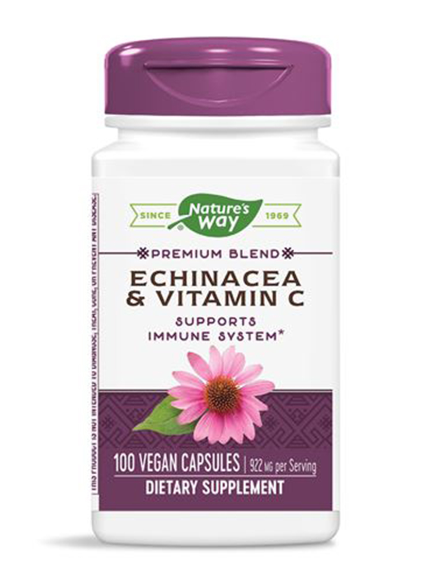 Echinacea and Vitamin C - 100 Capsules