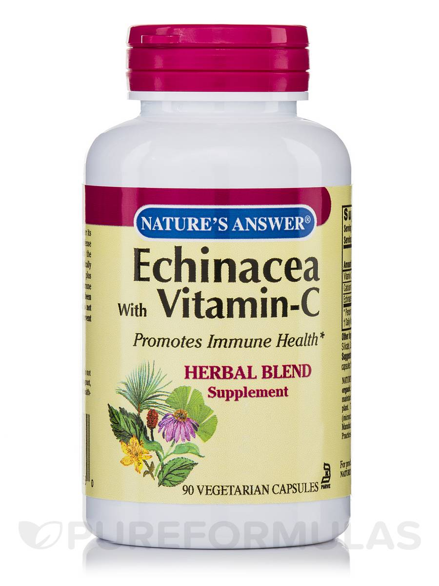 Echinacea with Vitamin-C - 90 Vegetarian Capsules