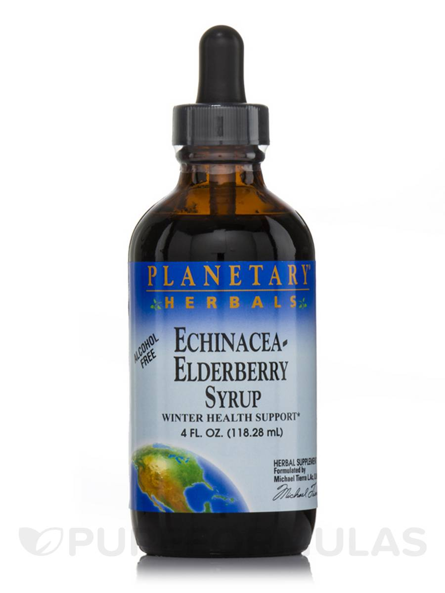 Echinacea-Elderberry Syrup (Alcohol Free) - 4 fl. oz (118.28 ml)