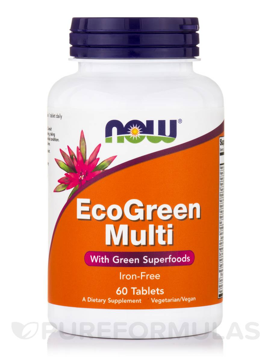 EcoGreen Multi Iron-Free - 60 Tablets