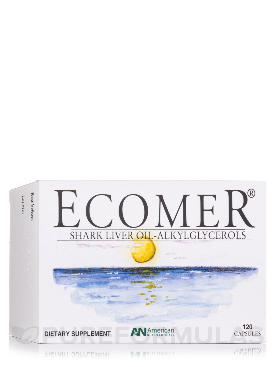 Ecomer/Shark Liver Oil-Alkylglycerols - 120 Capsules