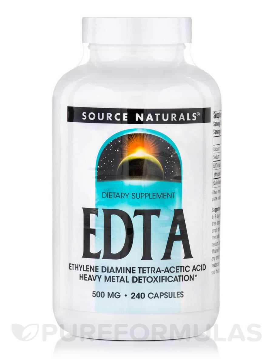 EDTA (Ethylene Diamine Tetra-Acetic Acid) 500 mg - 240 Capsules