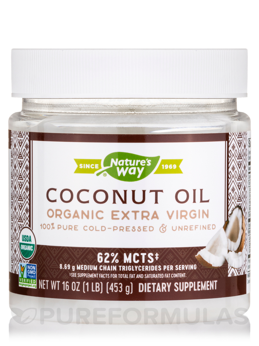 Organic Extra Virgin Coconut Oil - 16 oz (454 Grams)