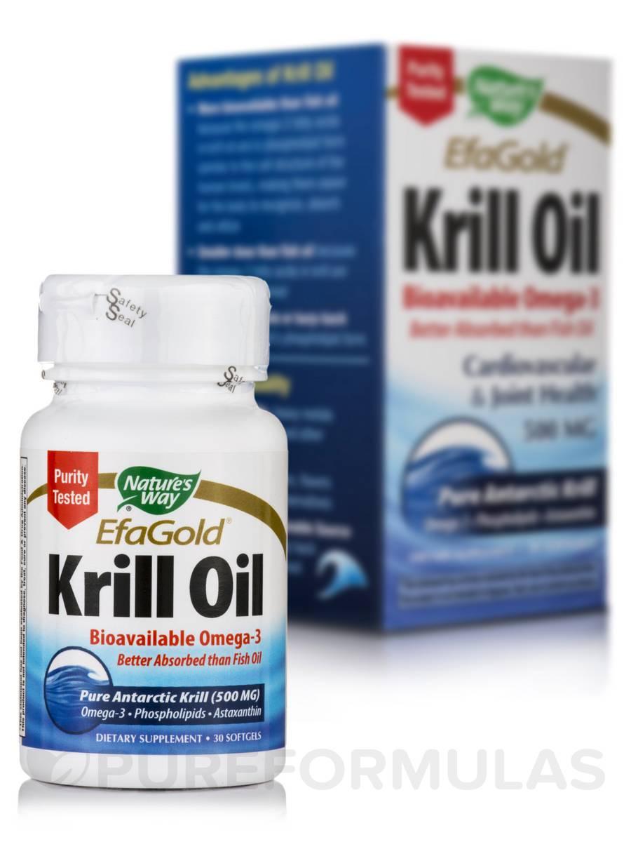 EfaGold Krill Oil 500 mg - 30 Softgels
