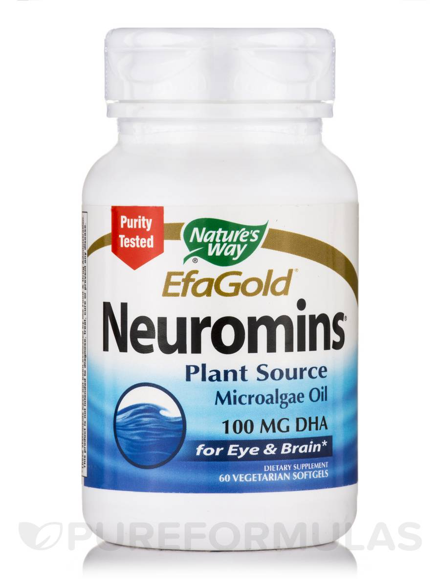 EfaGold Neuromins 100 mg DHA - 60 Vegetarian Softgels