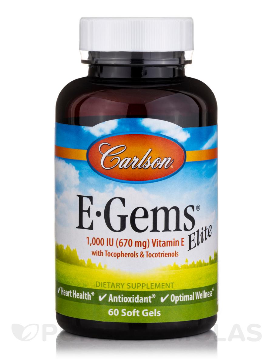E-Gems® Elite 1000 IU - 60 Soft Gels