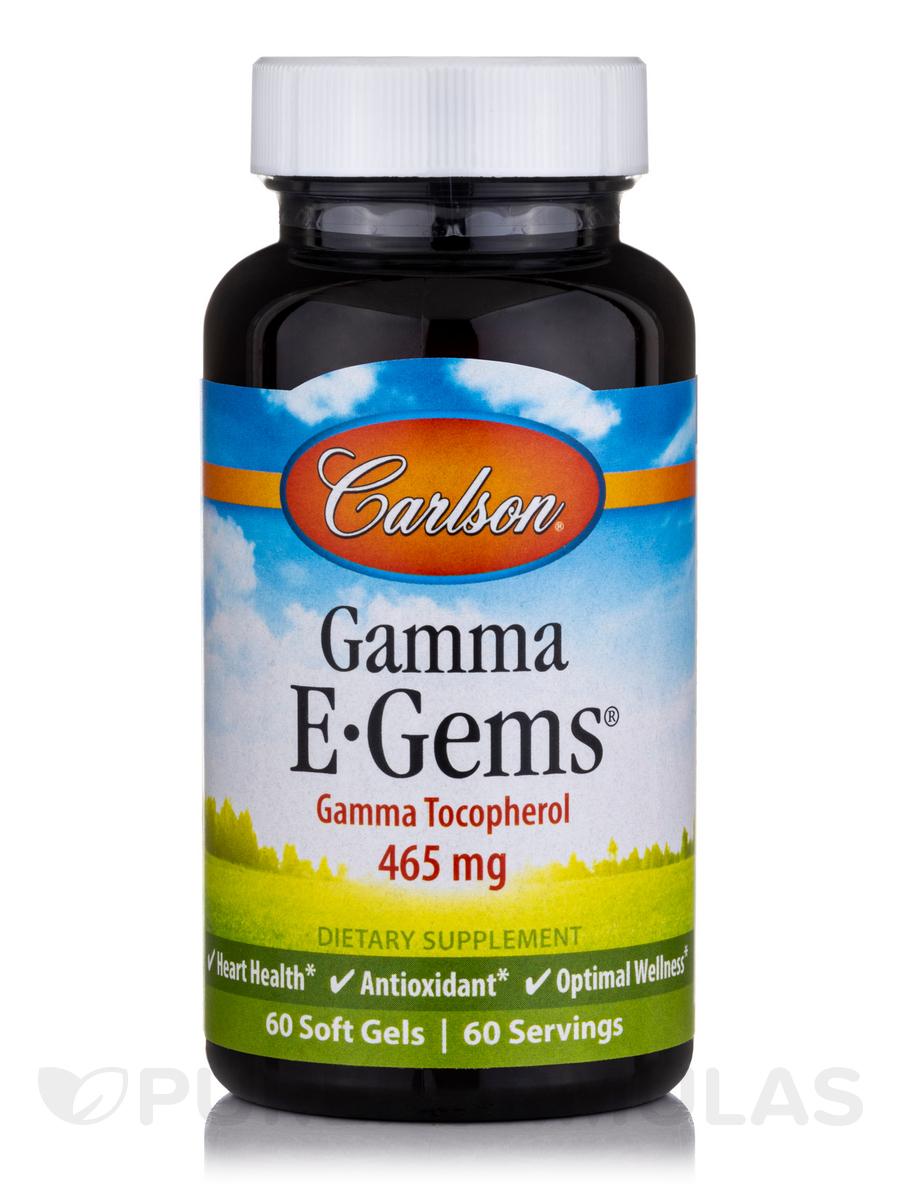 E-Gems® Gamma Tocopherol 465 mg - 60 Soft Gels