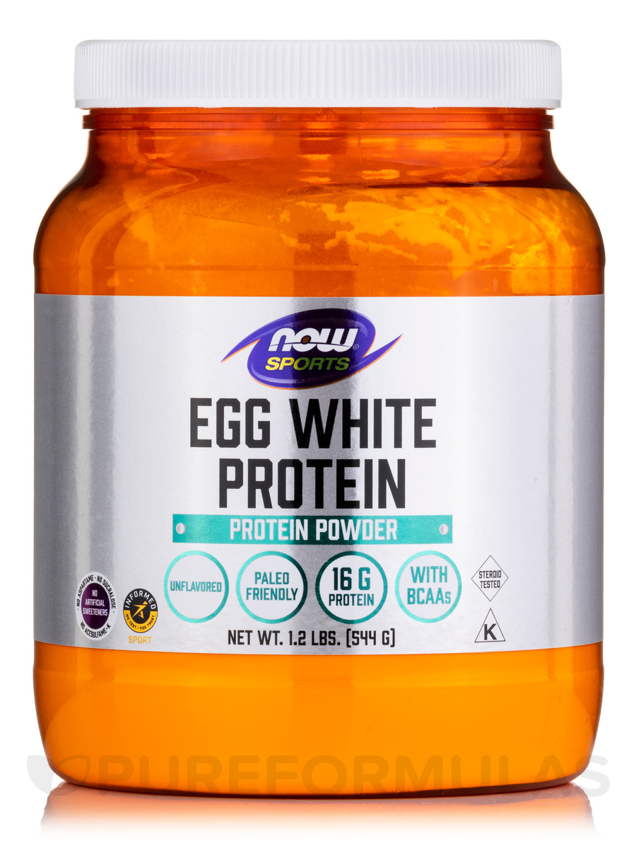 NOW® Sports - Eggwhite Protein - 1.2 lbs (544 Grams)