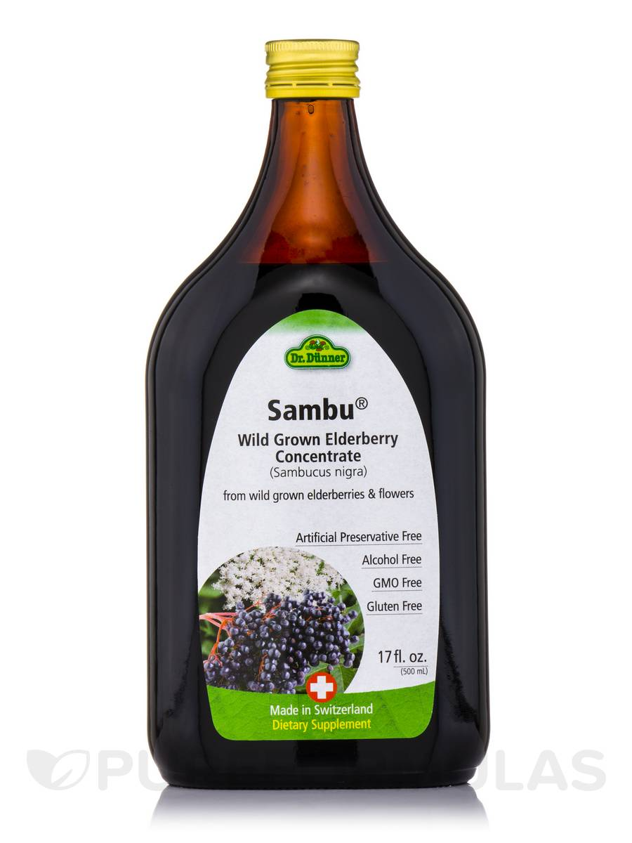 Dr. Dunner Sambu® Wild Grown Elderberry Concentrate (Sambucus nigra) - 17 fl. oz (500 ml)