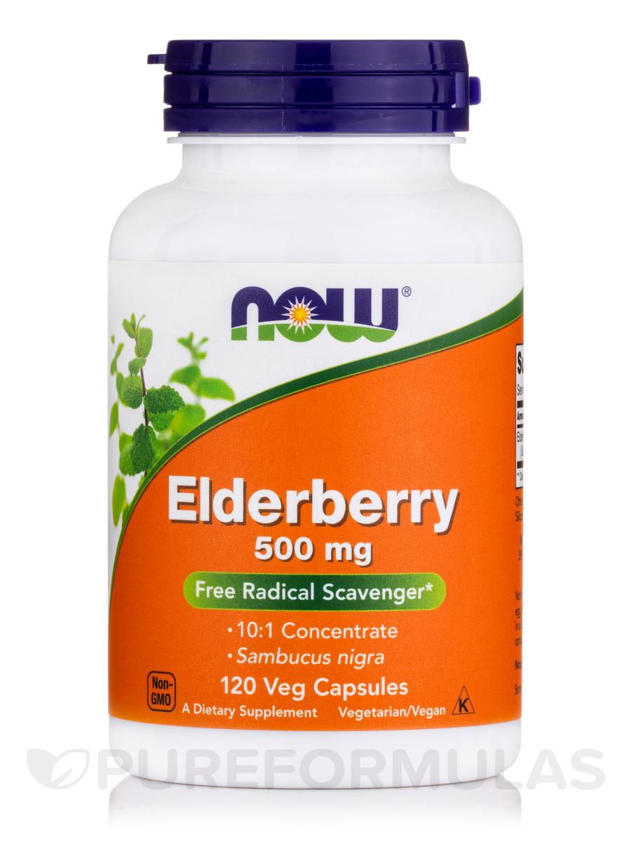Elderberry 500 mg - 120 Veg Capsules
