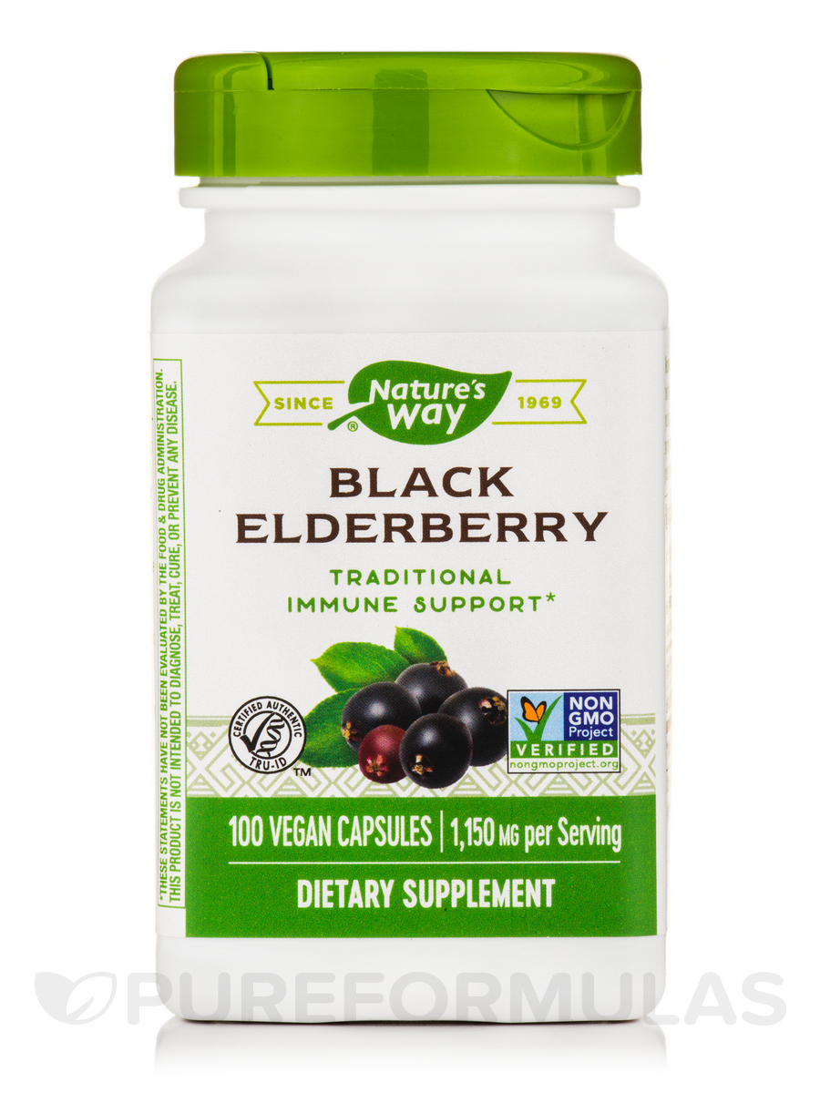Black Elderberry 575 mg - 100 Vegetarian Capsules