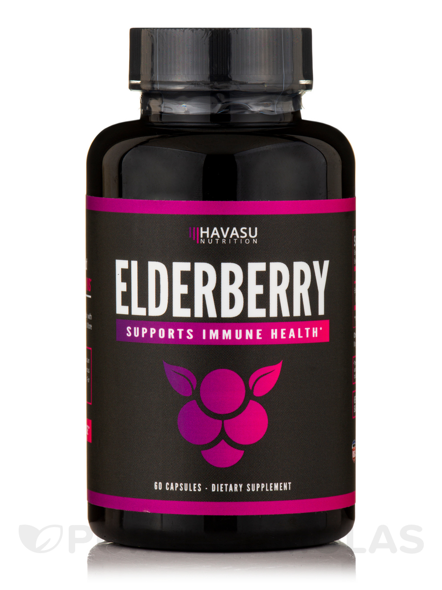 Elderberry Capsules 400 mg - 60 Capsules