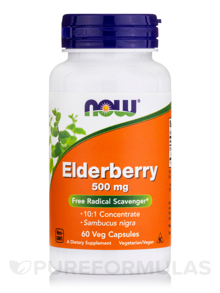 Elderberry Extract 500 mg - 60 Vegetarian Capsules