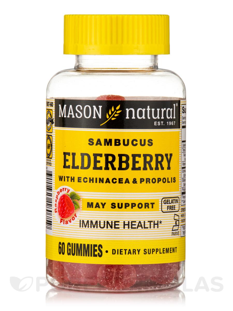 Elderberry with Echinacea & Propolis, Raspberry Flavor - 60 Gummies