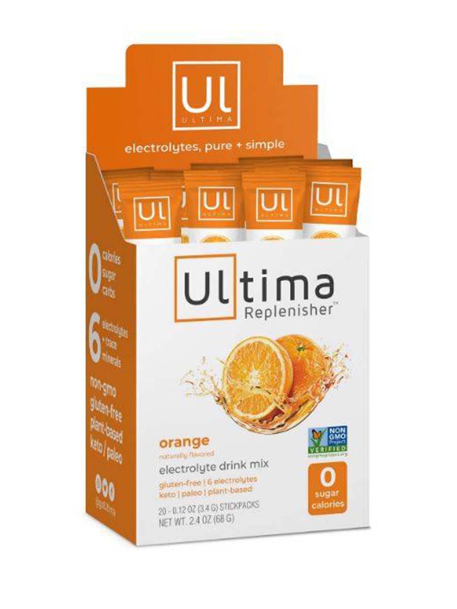 Electrolyte Hydration Powder, Orange Flavor - 1 Box of 20 Stickpacks