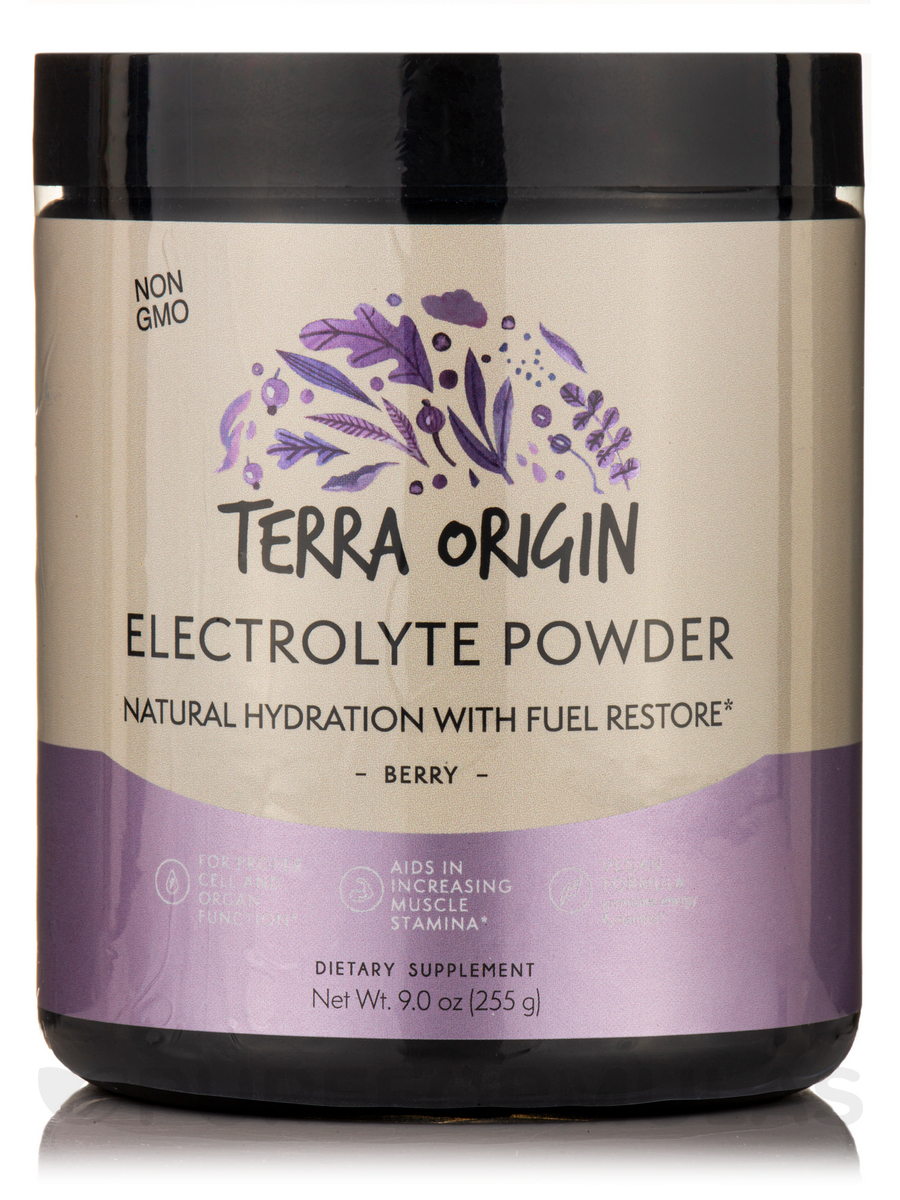 Electrolyte Powder Natural Hydration with Fuel Restore Formula, Berry - 9 oz (255 Grams)