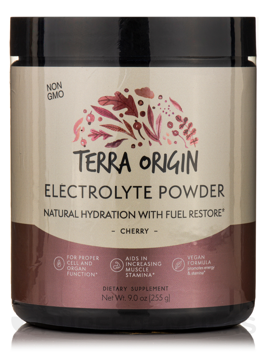 Electrolyte Powder Natural Hydration with Fuel Restore Formula, Cherry - 9 oz (255 Grams)