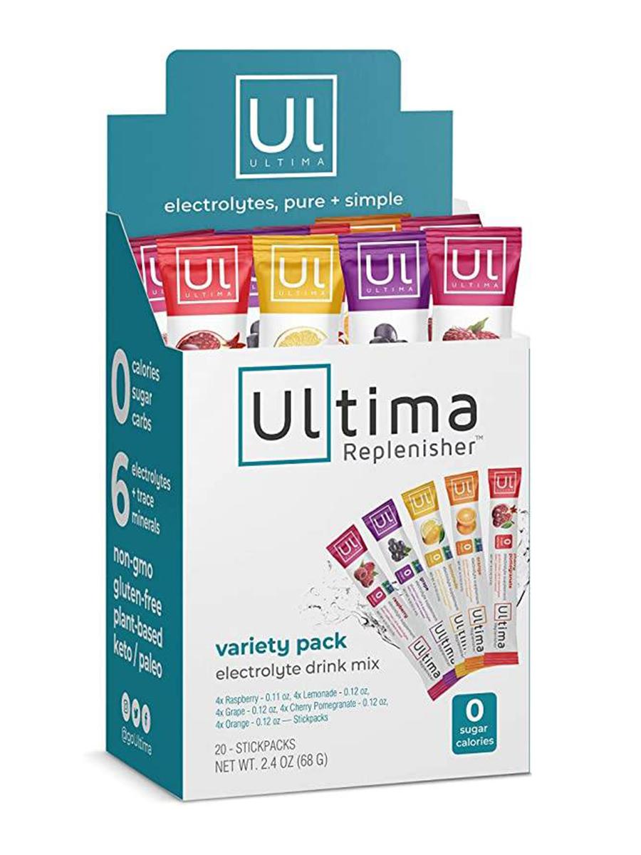 Electrolyte Hydration Powder, Variety Pack (Raspberry, Orange, Grape, Lemonade & Cherry Pomegranate) - 1 Box of 20 Stickpacks (2.4 oz / 68 Grams)