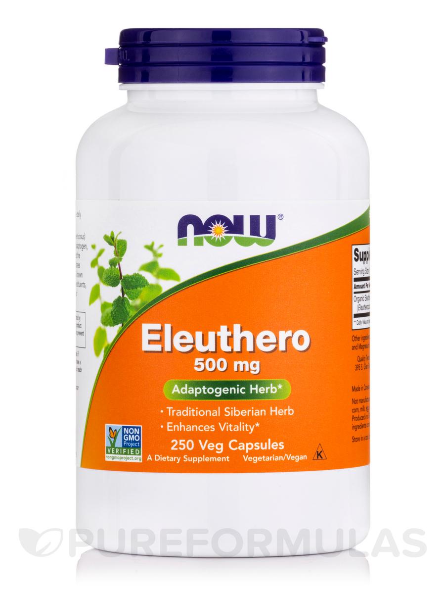Eleuthero 500 mg - 250 Capsules