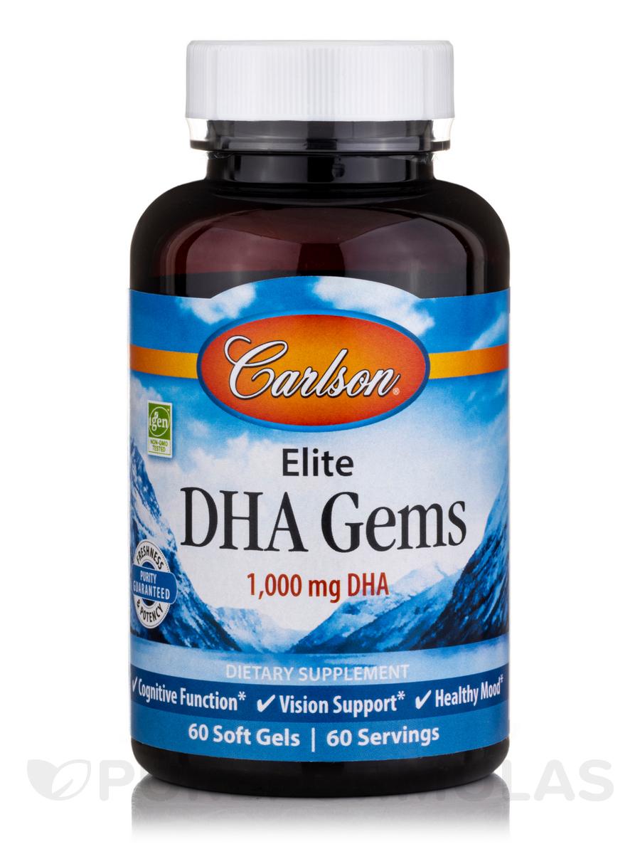 Elite DHA Gems® 1000 mg - 60 Soft Gels