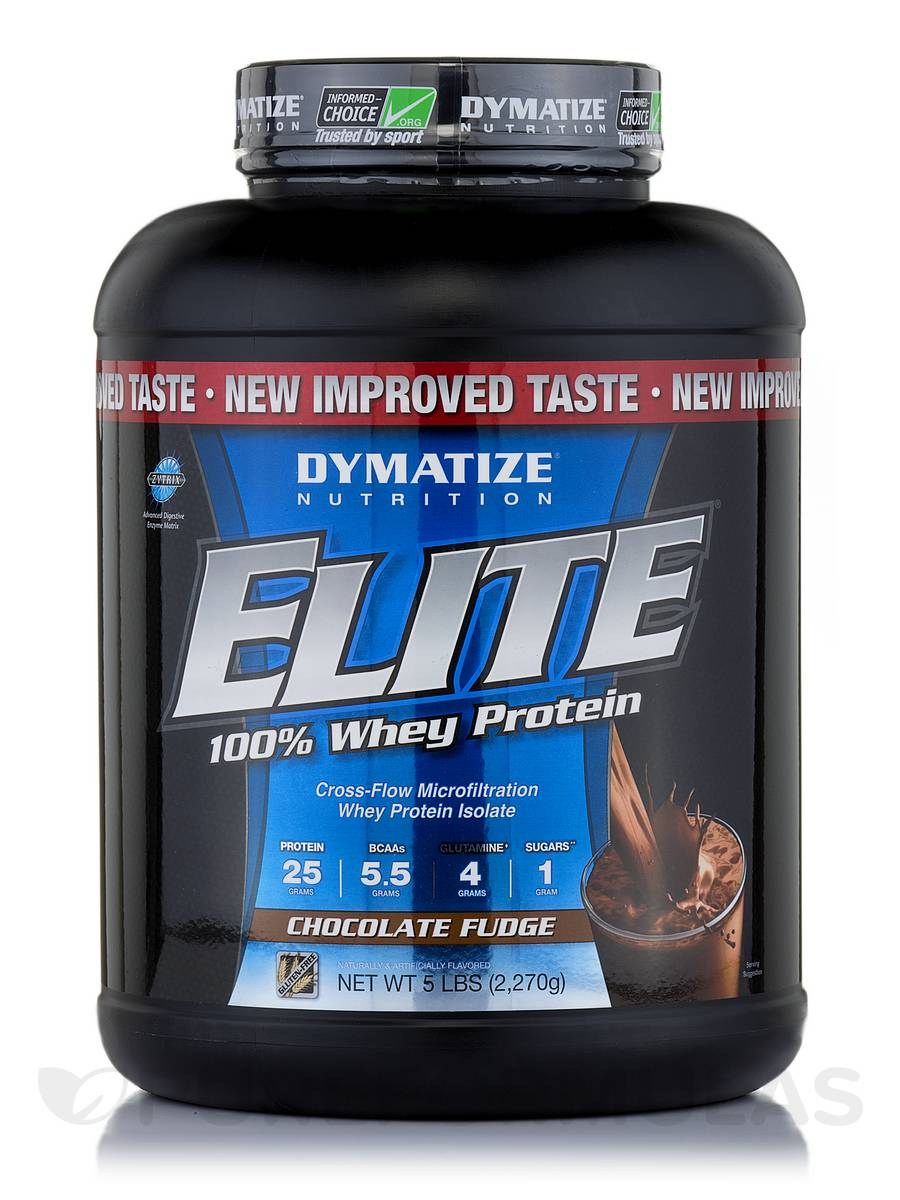 Elite 100% Whey Protein Chocolate Fudge - 5 lbs (2,270 Grams)