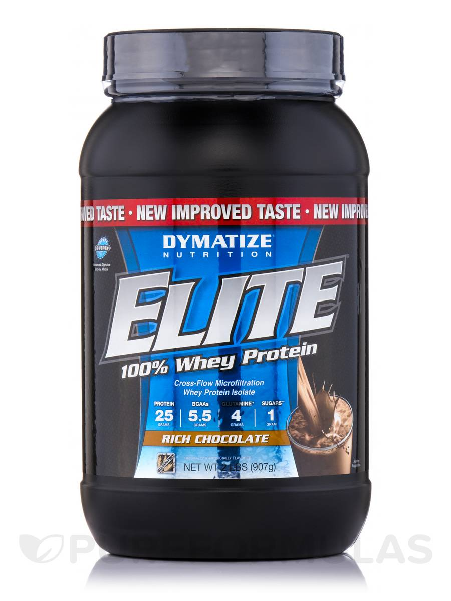 Elite 100% Whey Protein Rich Chocolate - 2 lbs (907 Grams)