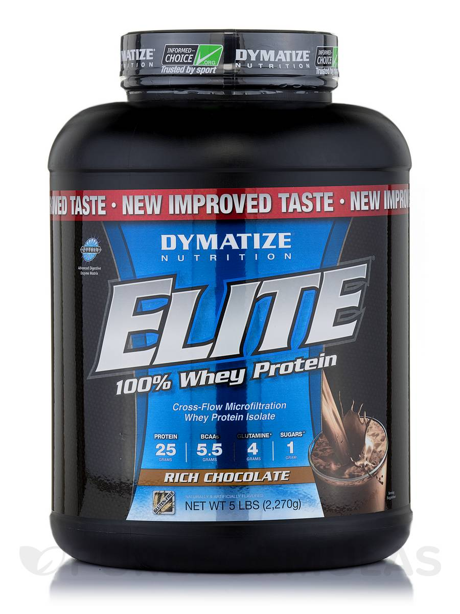 Elite 100% Whey Protein Rich Chocolate - 5 lbs (2,270 Grams)