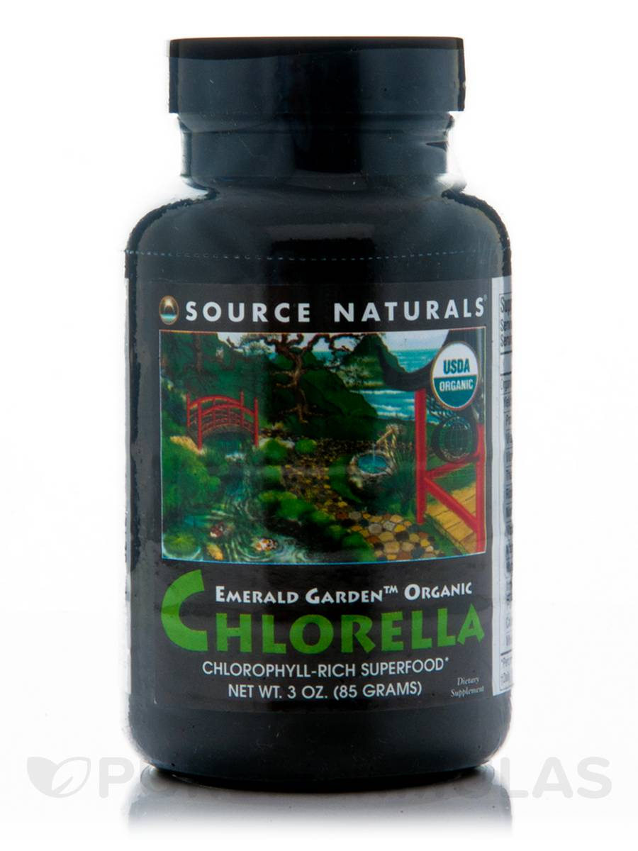 Emerald Garden Organic Chlorella Powder - 3 oz (85 Grams)