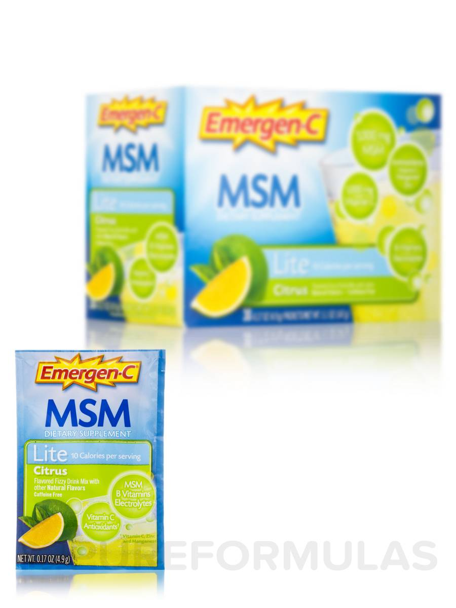 Emergen-C® MSM Lite, Citrus Flavor - 30 Packets