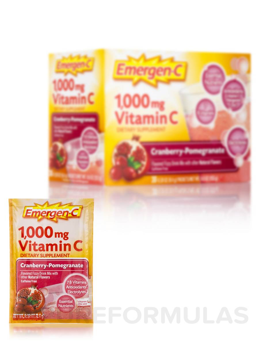 Emergen-C Vitamin C 1000 mg Cranberry Pomegranate - 30 Packets