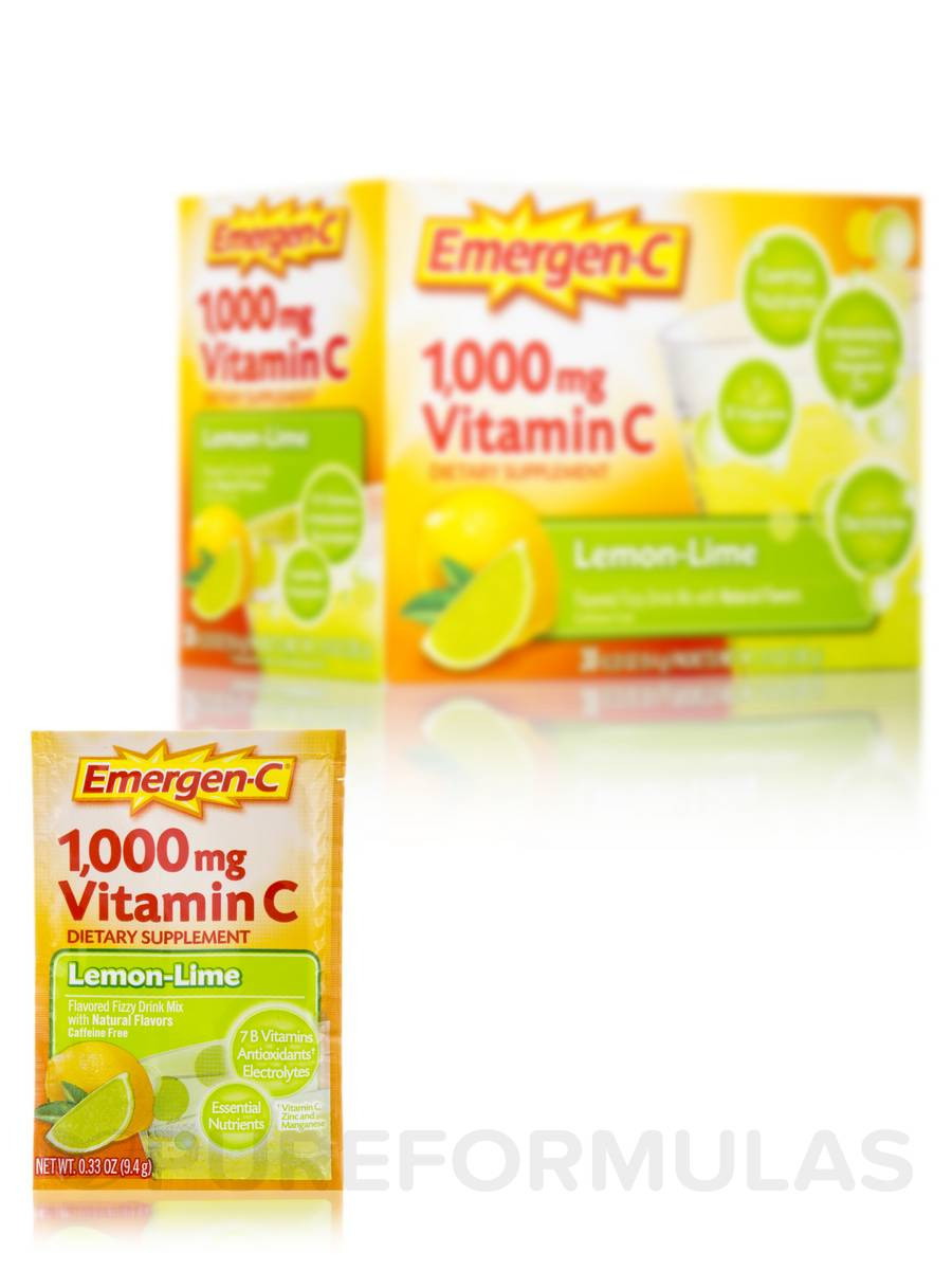 Emergen-C Vitamin C 1000 mg Lemon-Lime - 30 Packets