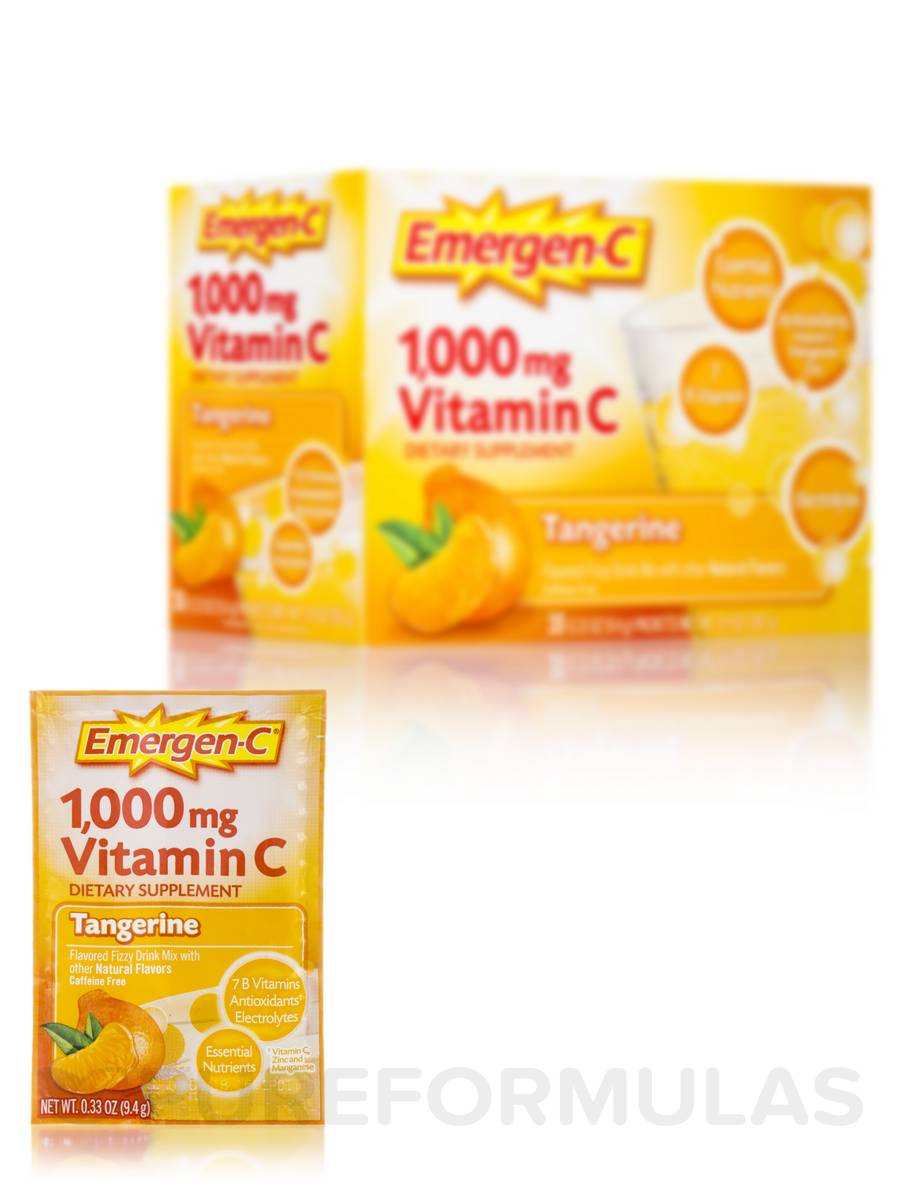 Emergen-C® Vitamin C 1000 mg, Tangerine Flavor - 30 Packets