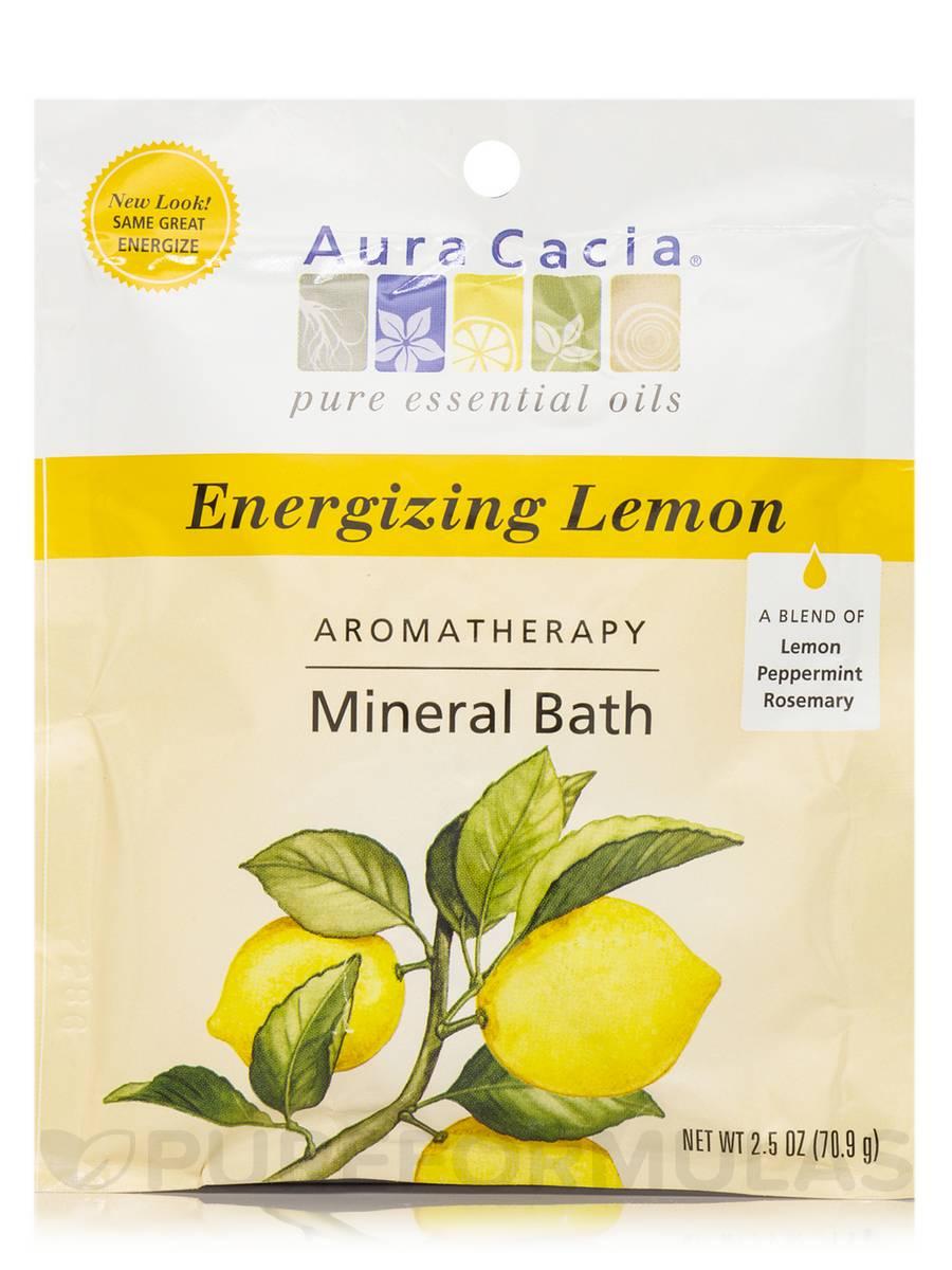 Aromatherapy Mineral Bath Energizing Lemon (Energize) - 2.5 oz (70.9 Grams)