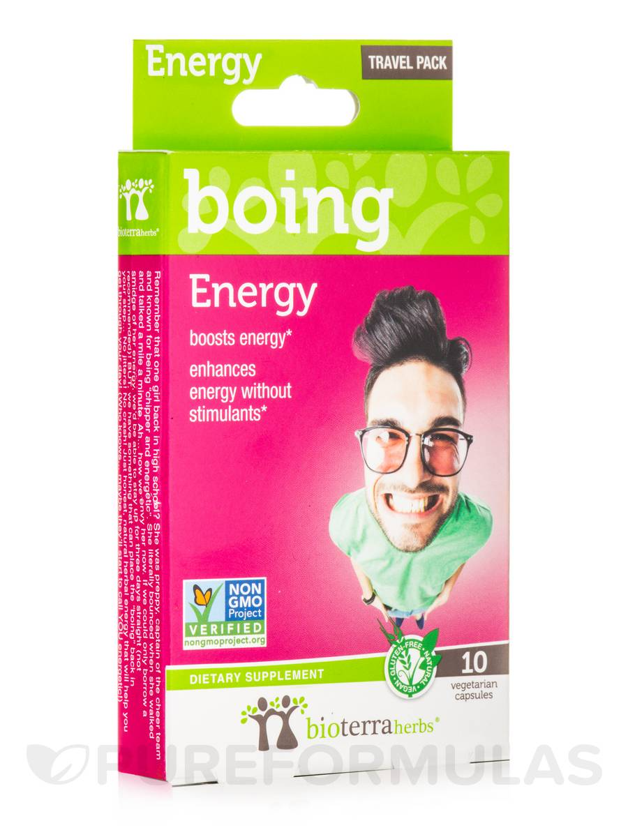 Energy... boing - Travel Pack - 10 Vegetarian Capsules