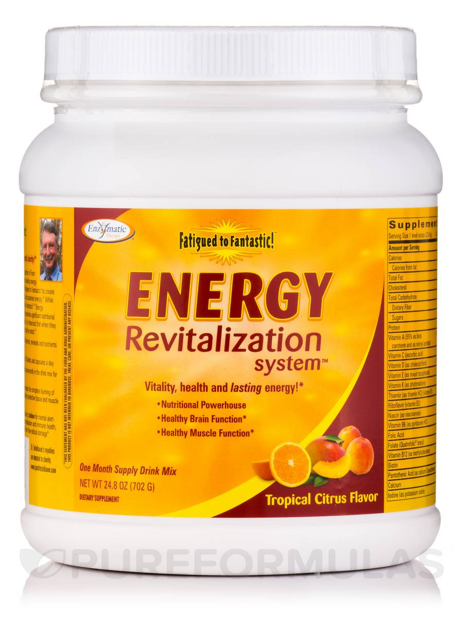 Fatigued to Fantastic! Energy Revitalization System Tropical Citrus Flavor - 24.8 oz (702 Grams)