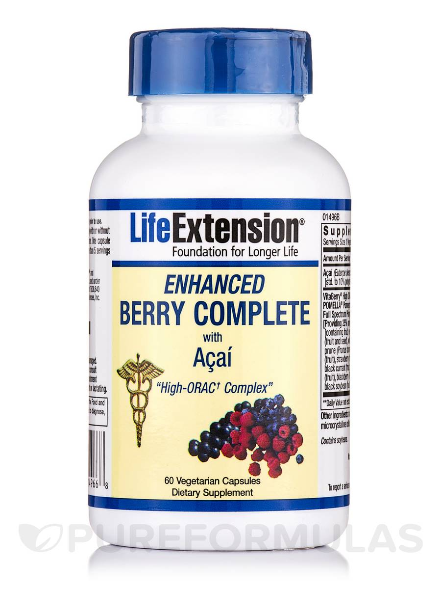Enhanced Berry Complete with RZD Acai High-ORAC† Complex - 60 Vegetarian Capsules