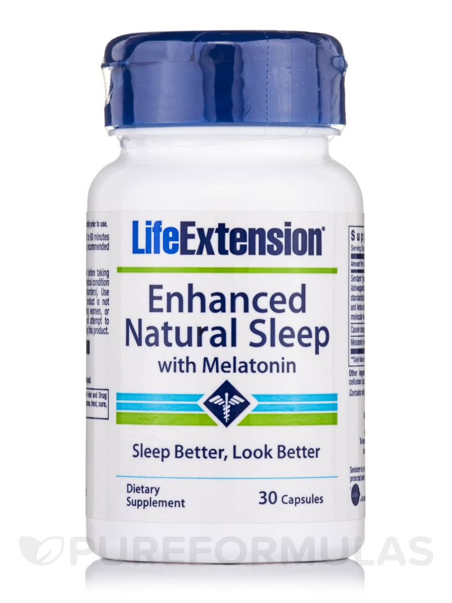 Enhanced Natural Sleep with Melatonin - 30 Capsules