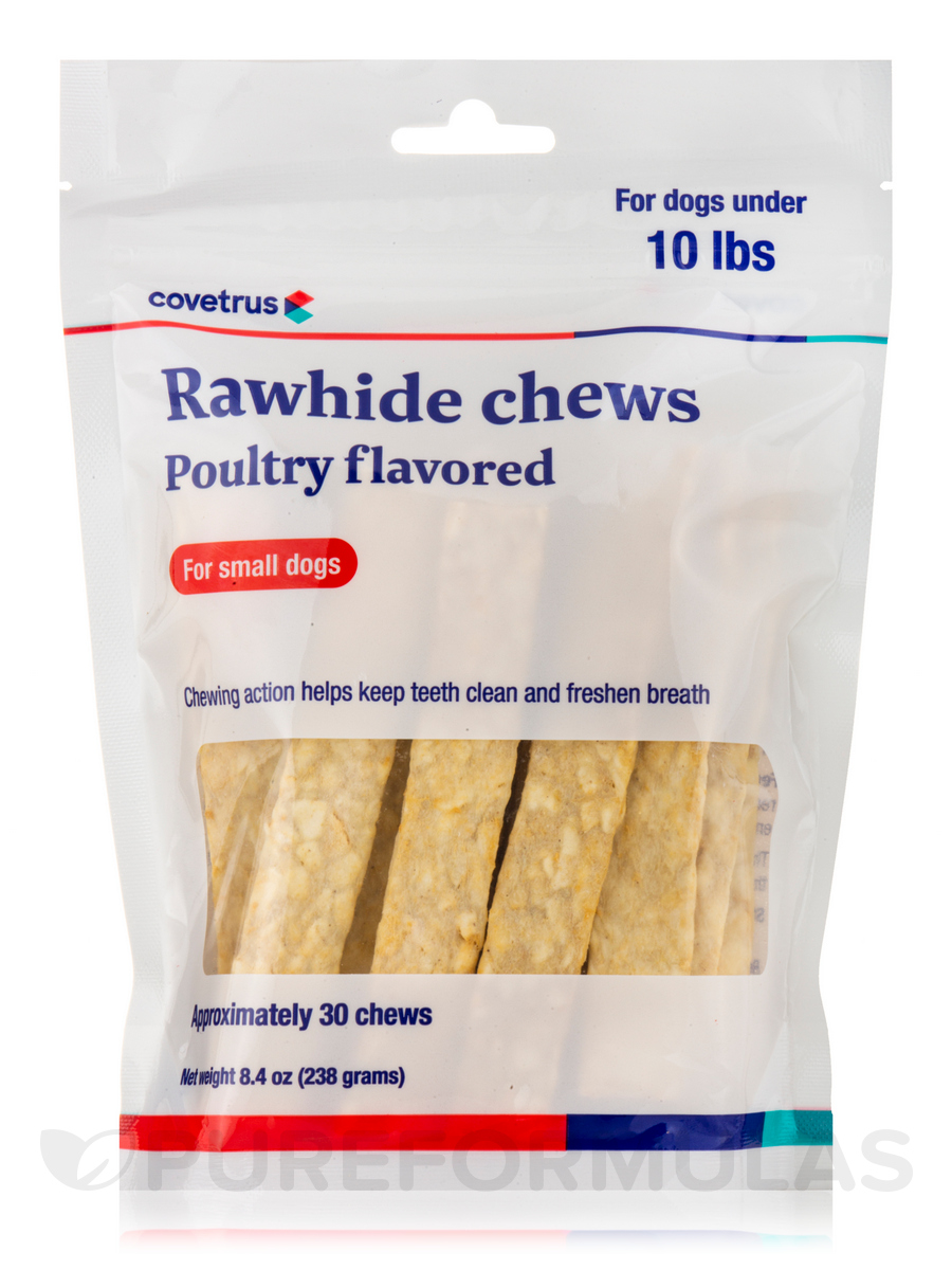 Dental Rawhide Enzymatic Chews, Poultry Flavored for Small Dogs under 10 lbs (Formerly Enzy-Chews) - 30 Chews (8.4 oz / 238 Grams)