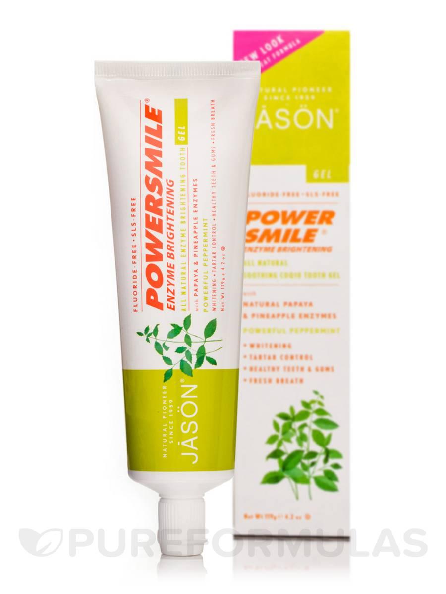 PowerSmile Enzyme Brightening Toothpaste Fluoride-Free (Powerful Peppermint) - 4.2 oz (119 Grams)