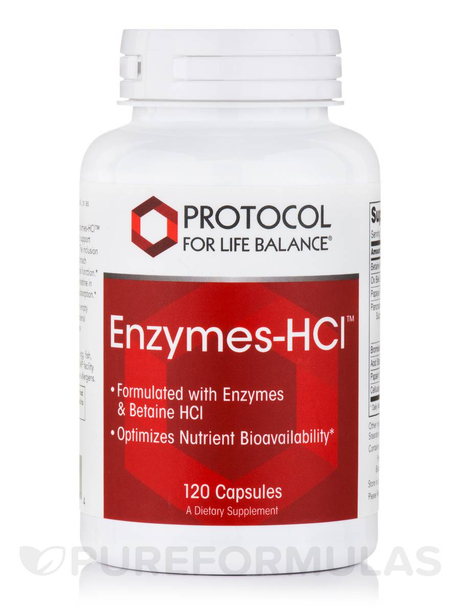 Enzymes-HCL - 120 Capsules