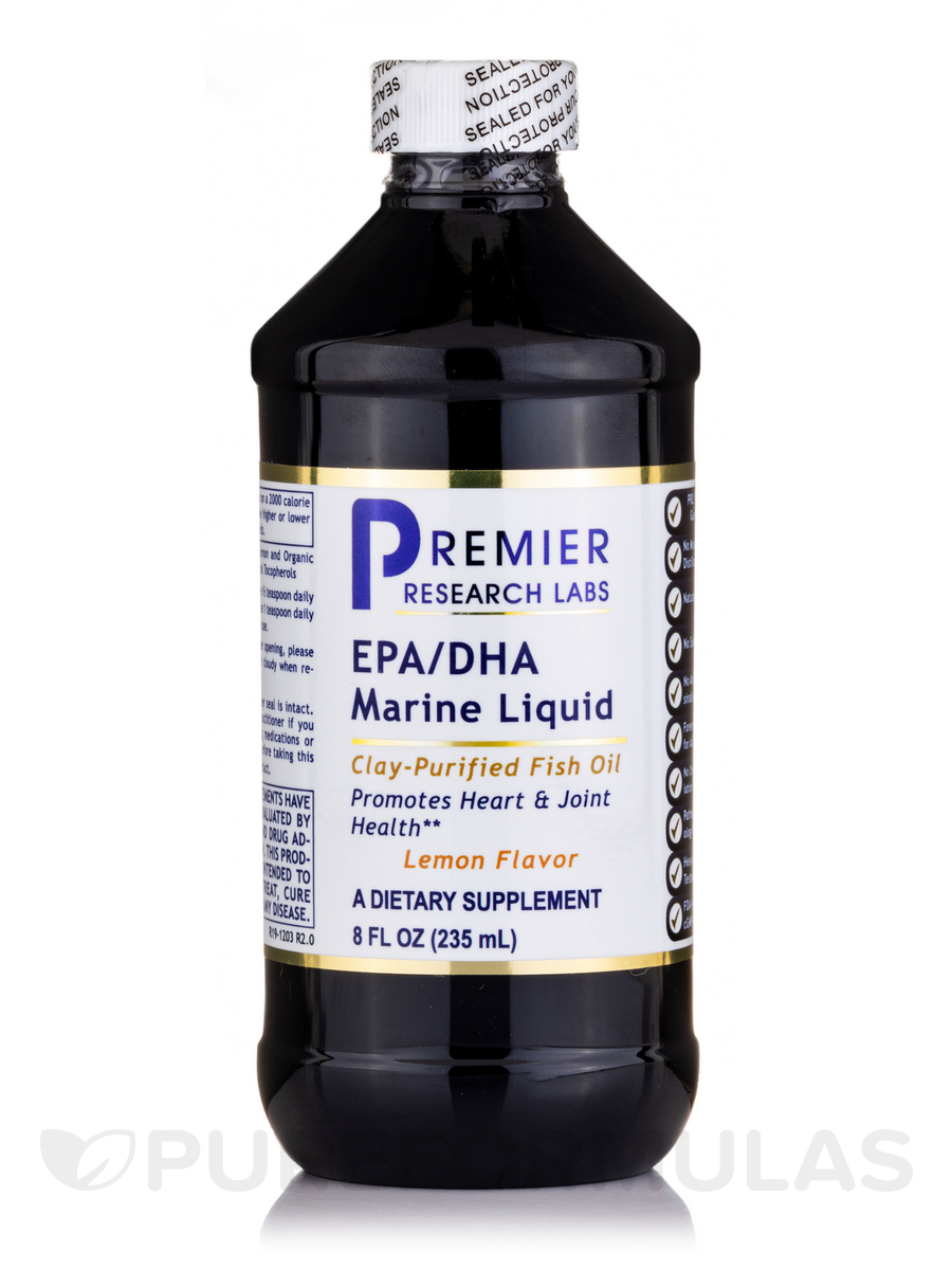 EPA/DHA Marine Liquid, Lemon Flavor - 8 fl. oz (235 ml)